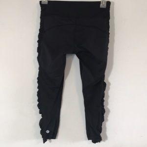 lululemon athletica Pants - Lululemon Ruched Crop Leggings